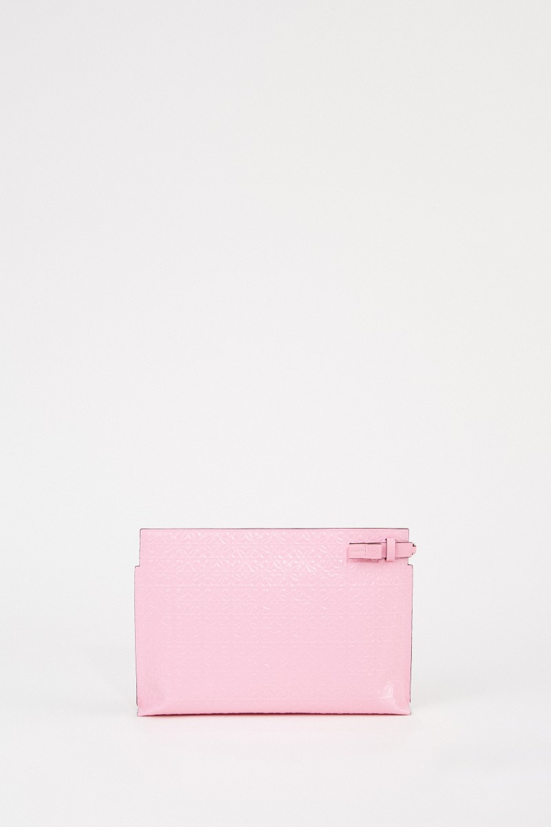 Loewe Clutch 'Pouch Repeat'' mit Logo Pink