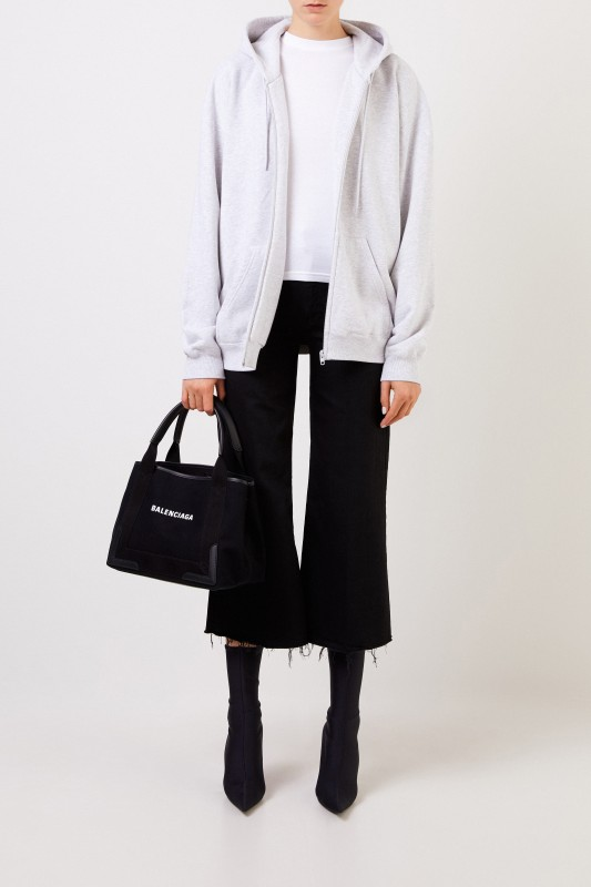 Balenciaga Sweatshirt mit Kapuze Grau/Schwarz