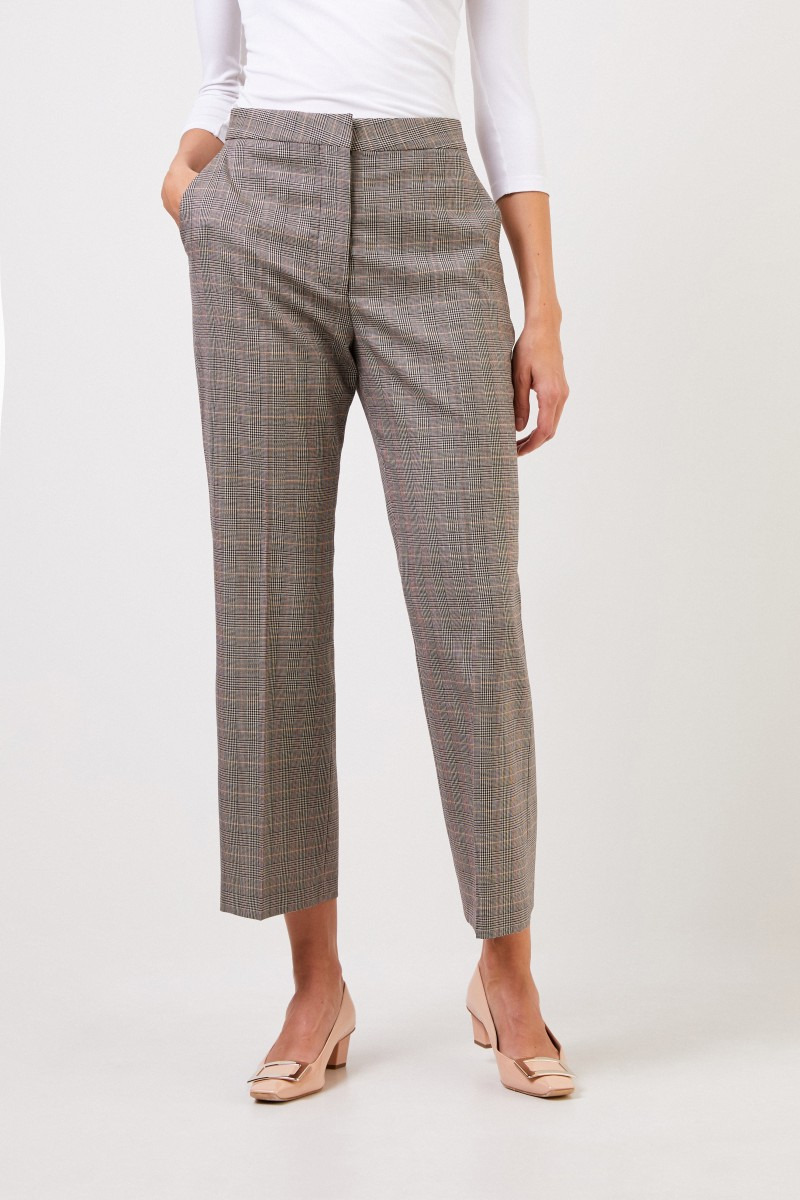 Stella McCartney Wool pants 'Carlie' with glencheck Multi