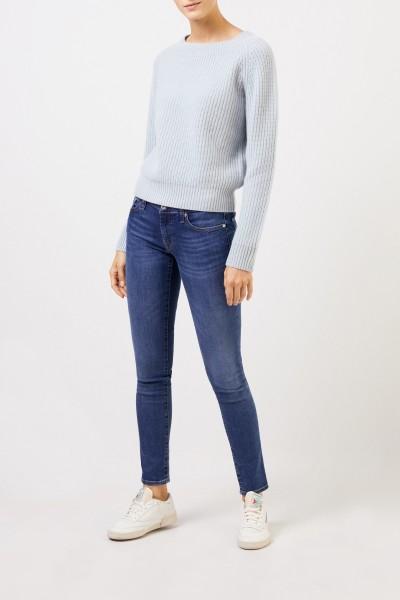 Uzwei Rippstrick-Cashmere-Pullover Seegrün