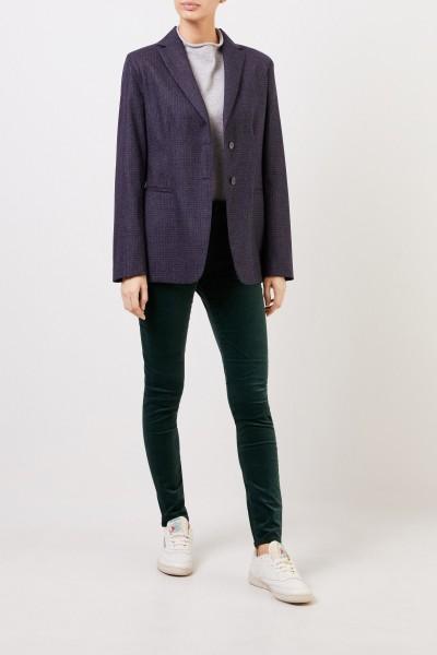 Fabiana Filippi Woll-Blazer mit Karomuster Blau/Grau