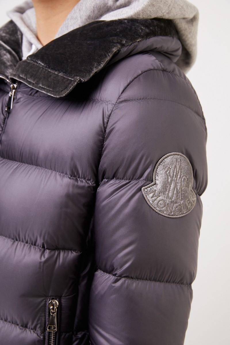 Moncler Daunenjacke 'Torcon' mit Samt-Detail Grau