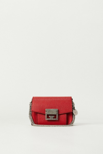 Schultertasche 'GV3 Mini' mit Silberelemente Rot