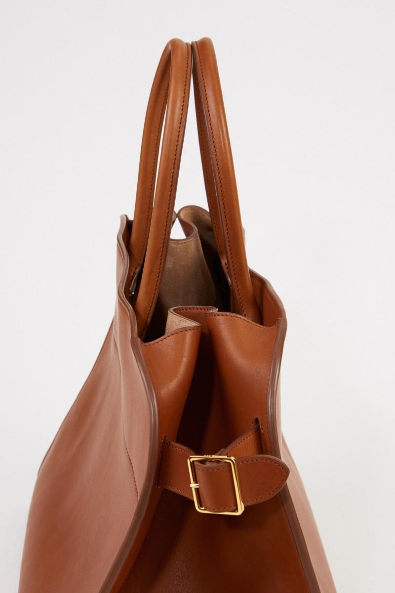 The Row Leder-Handtasche 'Margaux 17' Cognac