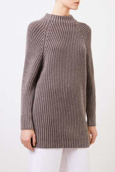 Iris von Arnim Long cashmere sweater 'Famke' Brown