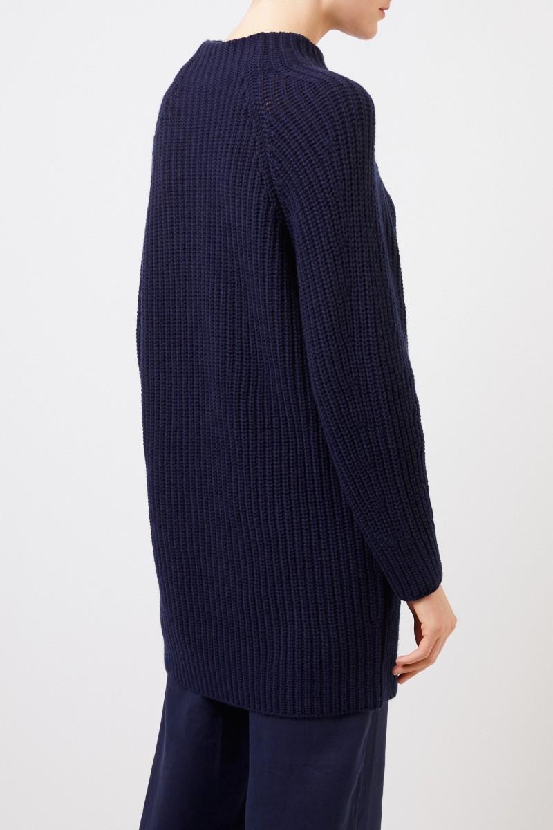 Iris von Arnim Langer Cashmere-Pullover 'Famke' Blau