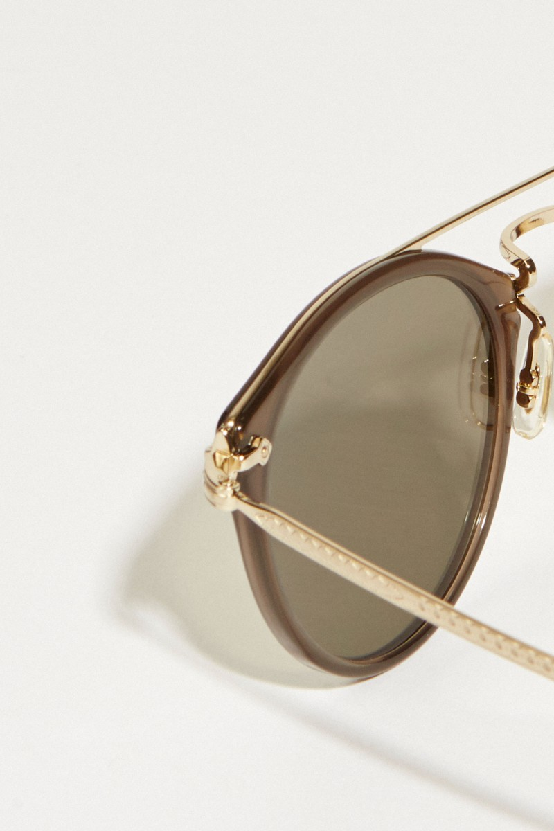 Oliver Peoples Sonnenbrille 'Remick' Gold/Braun