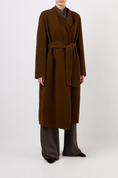 Wool cashmere coat 'Terin' with belt Khaki