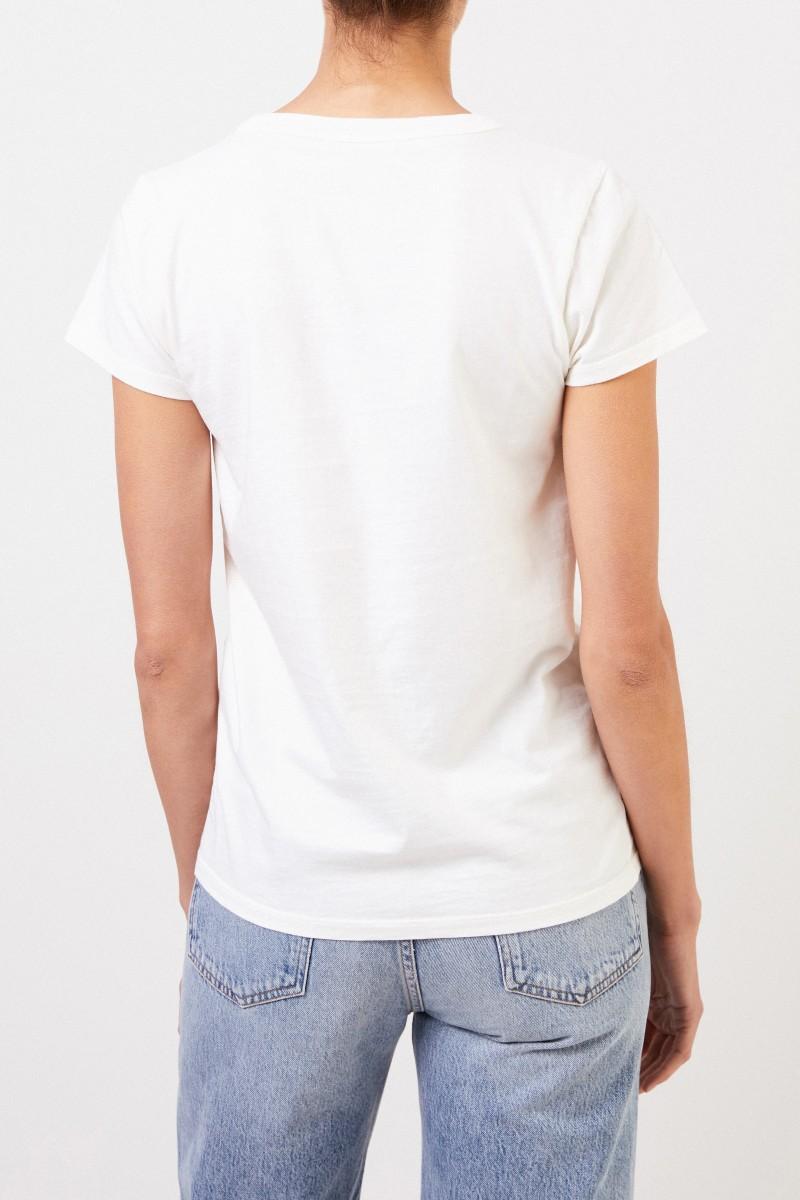 Maison Kitsuné T-Shirt 'Parisienne' Crème