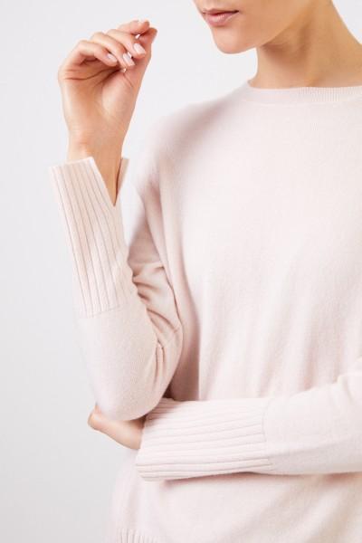 Allude Cashmere-Pullover mit Schlitzen Rosé