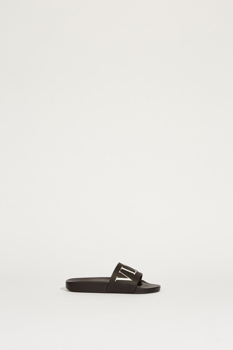 Sandale mit Logo Schwarz/Weiß