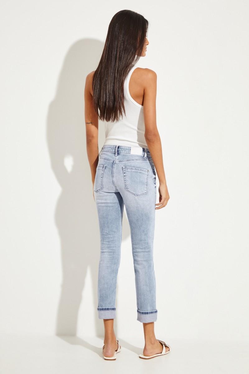 Jeans 'Pina' mit Perlendetails Blau
