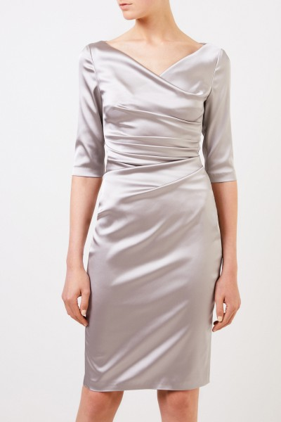 Talbot Runhof Evening dress with gathering 'Komoe3' Taupe