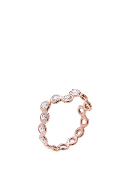 Lito Ring 'Cardio 18' with diamonds 18-carat pink gold