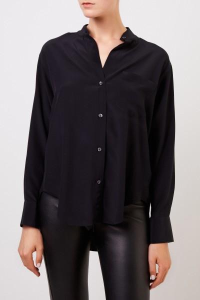 Robert Friedman Classic silk blouse 'Natis' Black