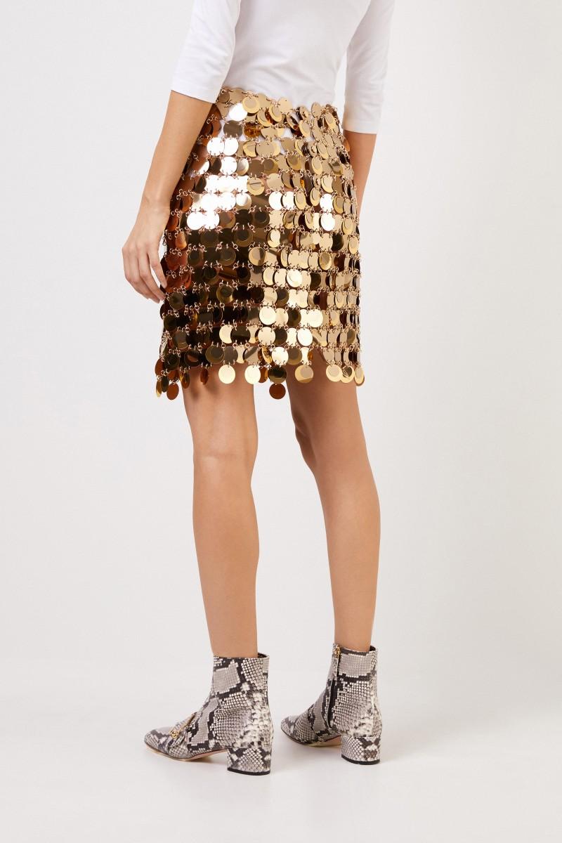 Kurzer Paillettenrock Gold
