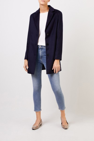 Uzwei Cashmere short coat Navy Blue