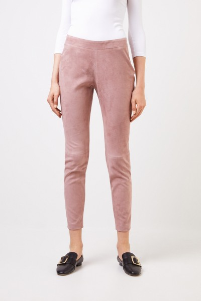 Fabiana Filippi Stretch Leather Pants Rosewood