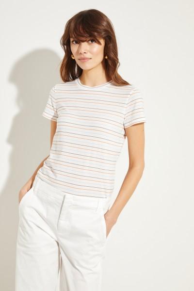 Gestreiftes Baumwoll-Shirt Multi
