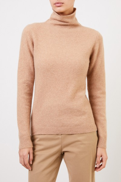 Allude Cashmere pullover with turtleneck Camel