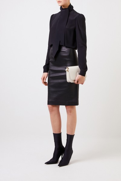Leather skirt 'Elle' Black