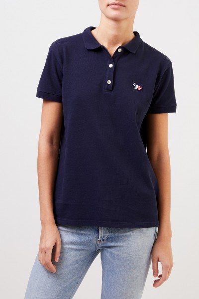 Maison Kitsuné Poloshirt 'Tricolor Fox Patch' Navy Blue