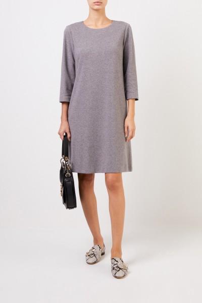 Klassisches Kleid Grau Melange