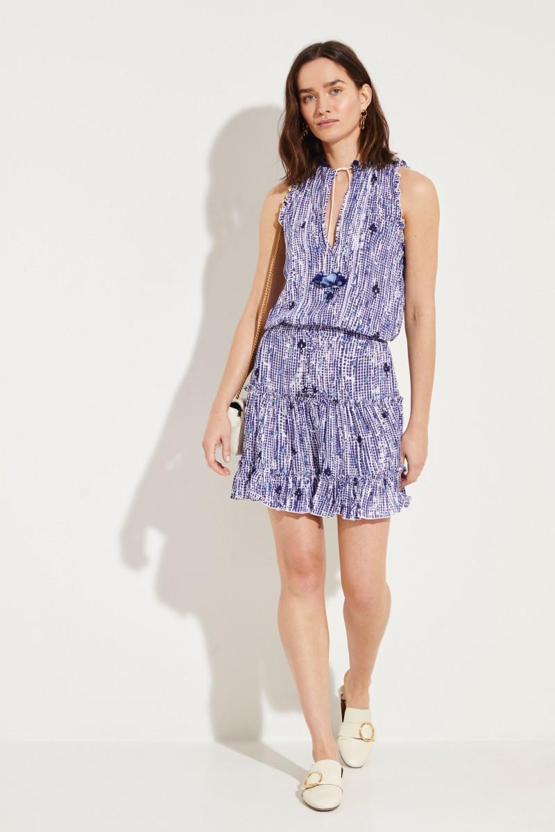 Kleid Clara' Blau/Weiß