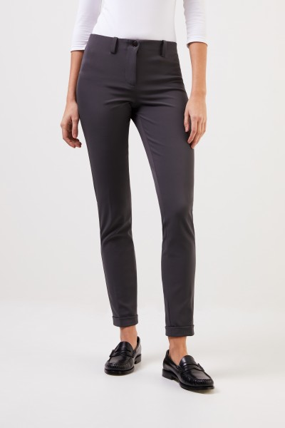 Cambio Elastic trousers 'Ros' Grey