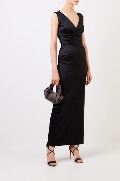 Abendkleid mit Raffung Schwarz