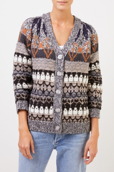 Stella McCartney Patterned wool cardigan Multi