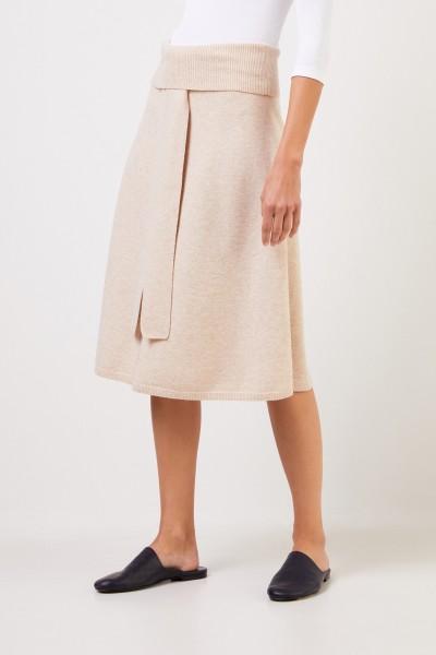 Joseph Wool skirt with belt Beige Mélange