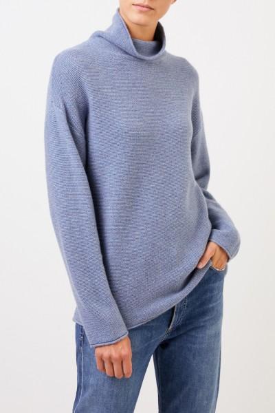UZWEI Cashmere-Pullover mit Turtleneck Blau