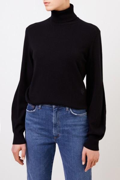 Chloé Cashmere turtleneck sweater navy blue