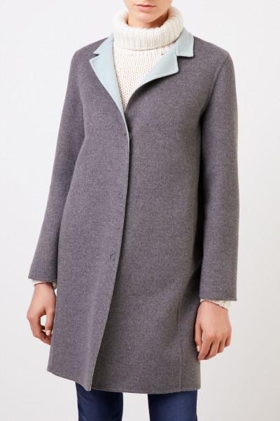 Manzoni 24 Classic cashmere-wool coat Grey