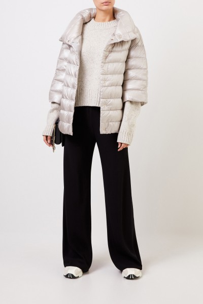 Down jacket with stand-up collar Beige/Grey