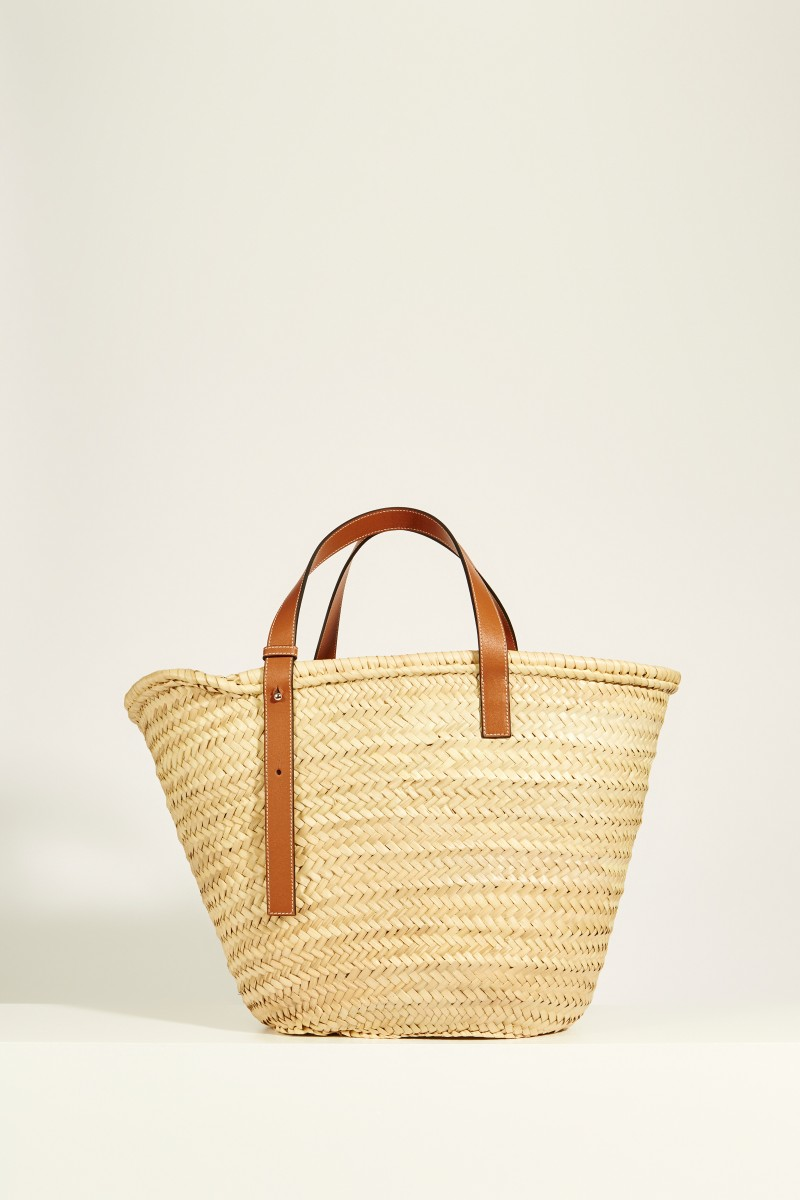 Korb 'Basket Bag Large' Natural/Tan