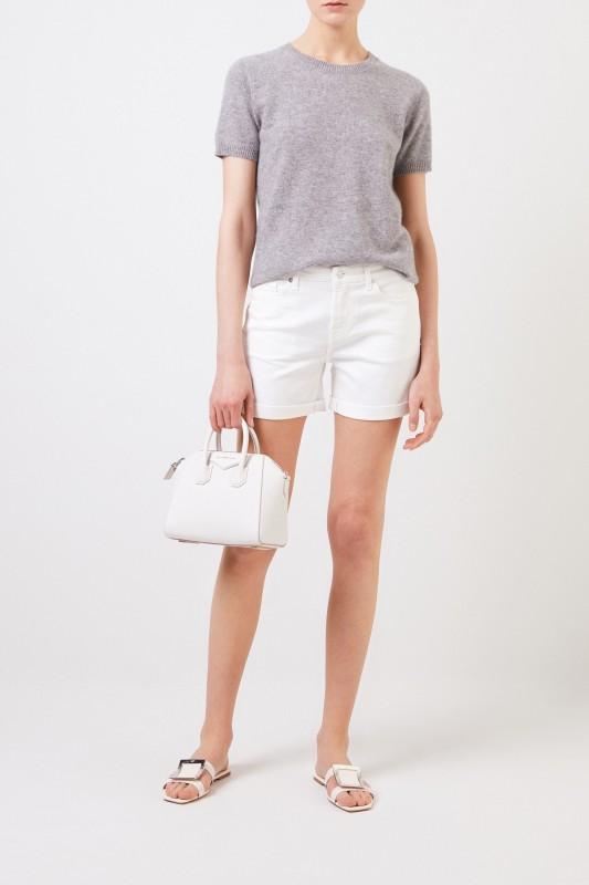 Klassisches Jeans-Shorts Weiß