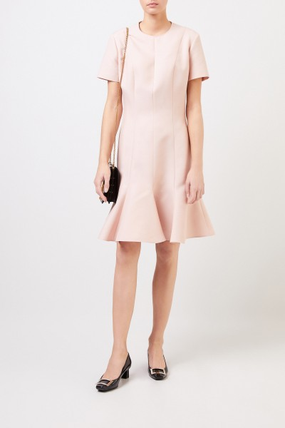 Stella McCartney Wool dress with flounce Pink