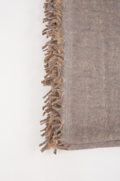 Allude Cashmere Scarf Beige/Grey