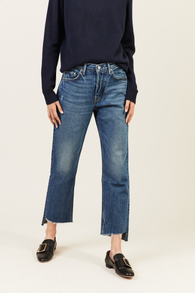 Cropped Jeans 'Helena' Blau