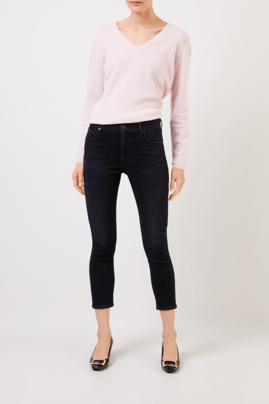 Citizens of Humanity Midrise-Skinny Jeans 'Rocket Cropped' Anthrazit