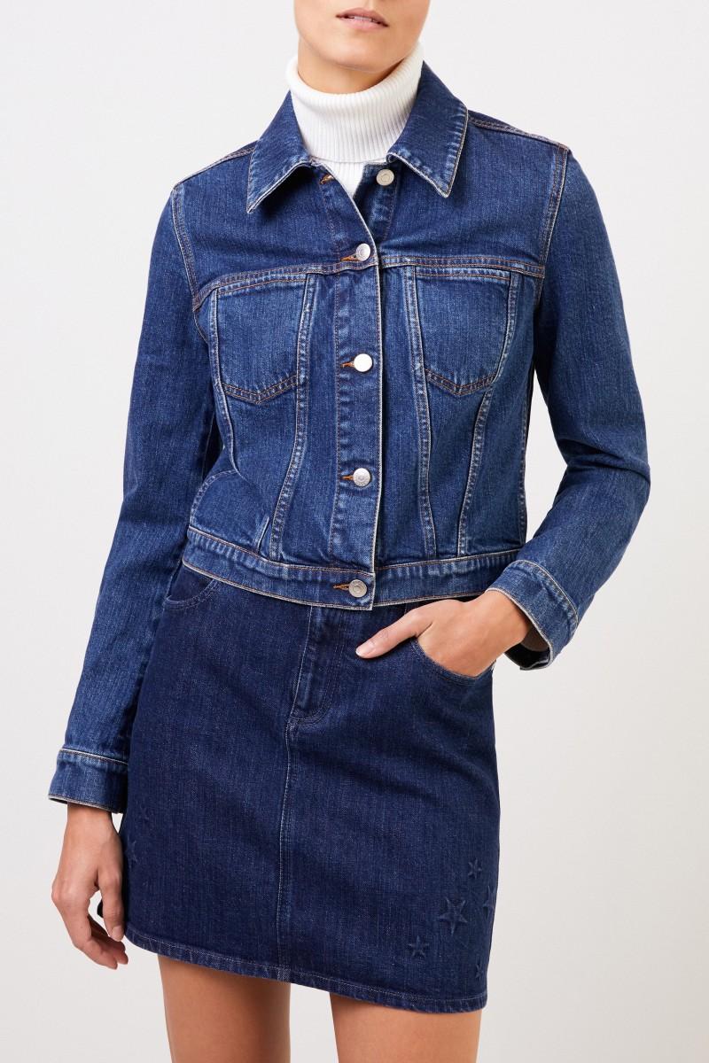 Stella McCartney Short jeans jacket Blue