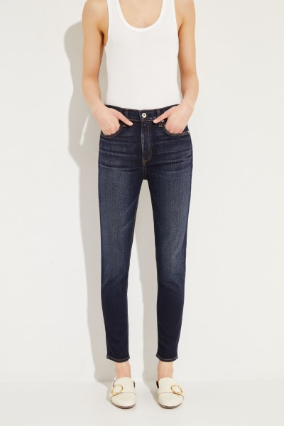 High Rise Ankle Jeans 'Riverdale' Dunkelblau