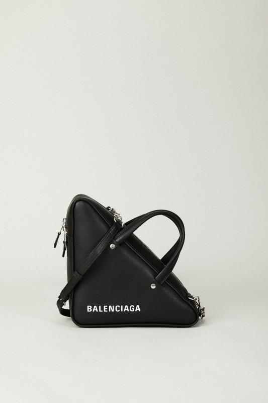 Geometrische Tasche 'Triangle' Schwarz