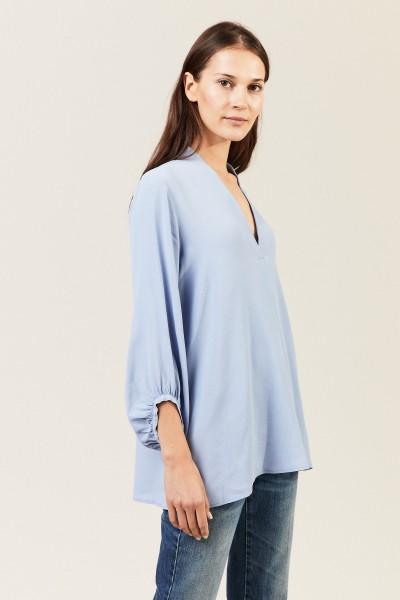 Leichte V-Neck Bluse 'Petrina'  Blau