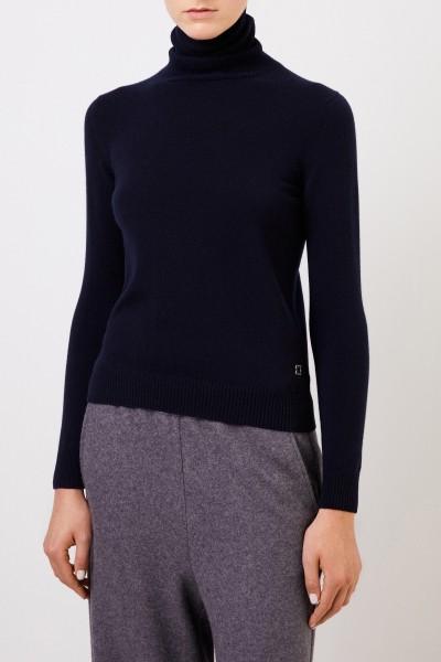 Colombo Cashmere turtleneck sweater Navy Blue