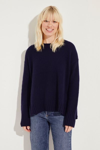 Oversize Cashmere-Pullover 'Chrissy' Blau