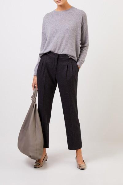 Iris von Arnim Cashmere sweater 'Calanna' with round neck Grey