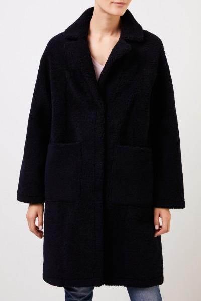 UNGER Classic reversible lambskin coat Navy Blue